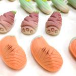 雛菓子、作成中。サクラマスの切身、竹の子、きゅうり